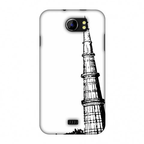 Qutub Minar Slim Hard Shell Case For Micromax Canvas 2 A110