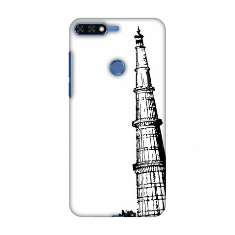 Qutub Minar Slim Hard Shell Case For Huawei Honor 7C