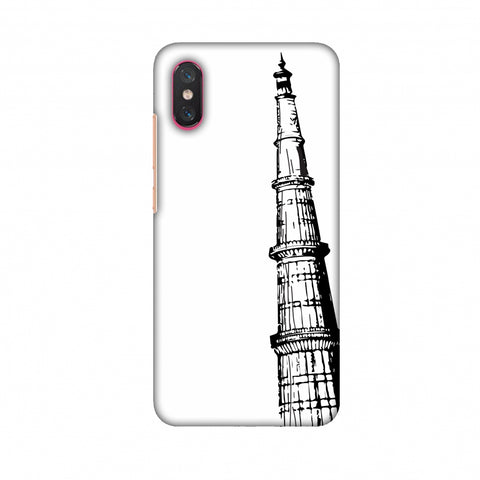 Qutub Minar Slim Hard Shell Case For Xiaomi Mi 8 Pro