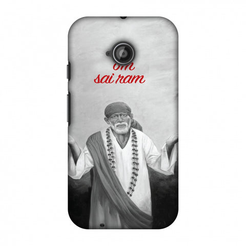 Om Sai Ram Slim Hard Shell Case For Motorola Moto E 2nd Gen