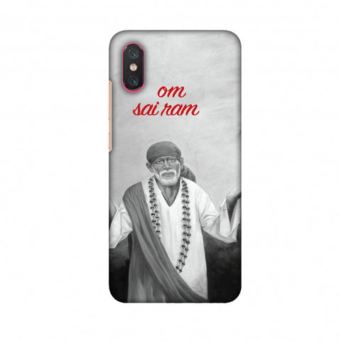 Om Sai Ram Slim Hard Shell Case For Xiaomi Mi 8 Pro