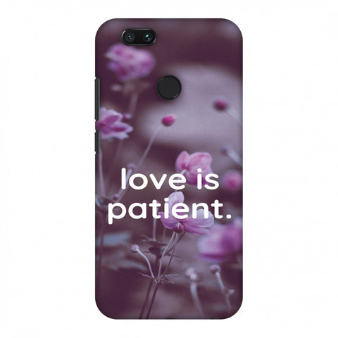 Love Is Patient Slim Hard Shell Case For Xiaomi MI A1-5X