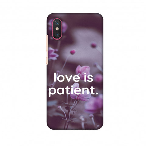 Love Is Patient Slim Hard Shell Case For Xiaomi Mi 8 Pro