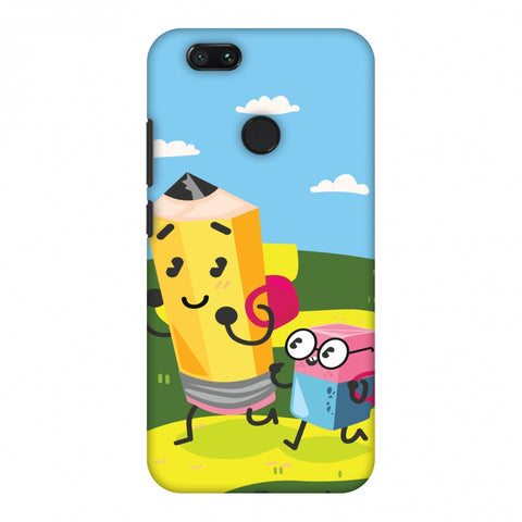 Cute Pencil & Eraser Slim Hard Shell Case For Xiaomi MI A1-5X