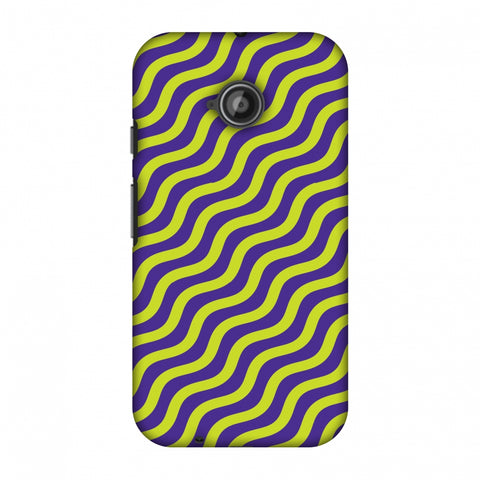 Waves Slim Hard Shell Case For Motorola Moto E 2nd Gen