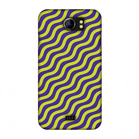 Waves Slim Hard Shell Case For Micromax Canvas 2 A110