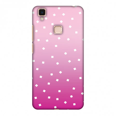 Pink Bits Slim Hard Shell Case For Vivo V3 Max