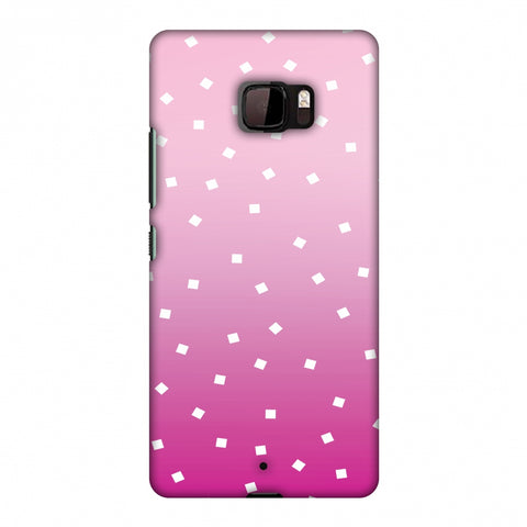 Pink Bits Slim Hard Shell Case For HTC U Ultra