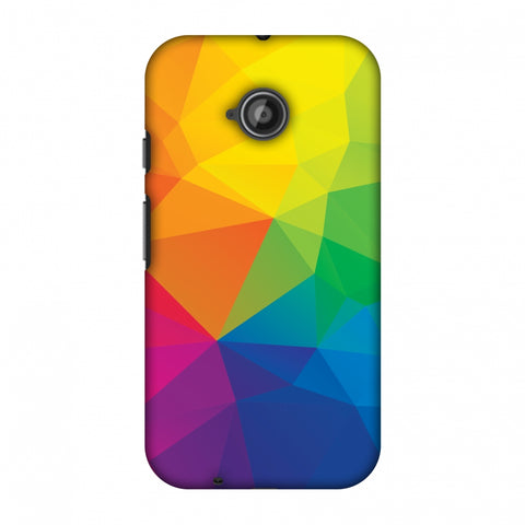 Polygon Fun 1 Slim Hard Shell Case For Motorola Moto E 2nd Gen