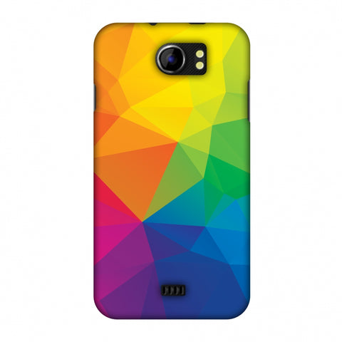 Polygon Fun 1 Slim Hard Shell Case For Micromax Canvas 2 A110
