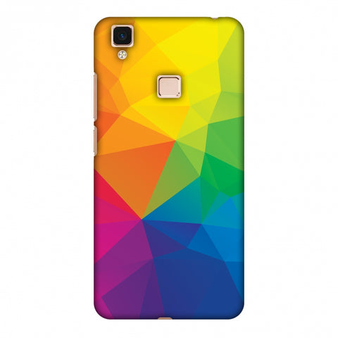 Polygon Fun 1 Slim Hard Shell Case For Vivo V3 Max
