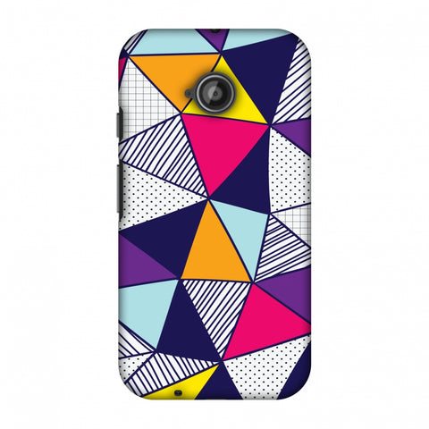 Polygon Fun 3 Slim Hard Shell Case For Motorola Moto E 2nd Gen
