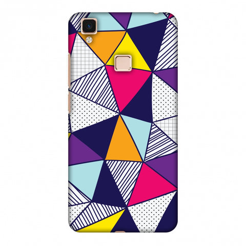 Polygon Fun 3 Slim Hard Shell Case For Vivo V3 Max