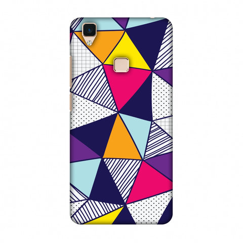 Polygon Fun 3 Slim Hard Shell Case For Vivo V3