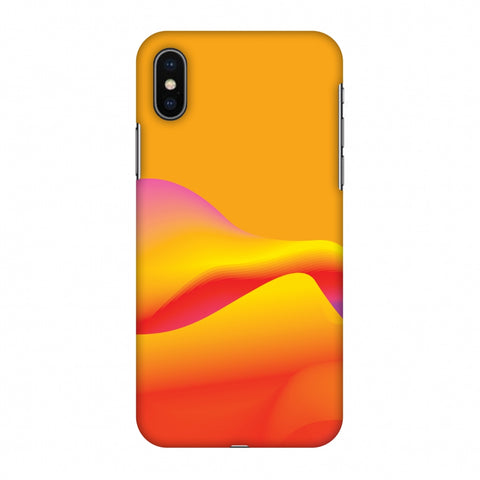 Pink Gradient Slim Hard Shell Case For Apple iPhone X
