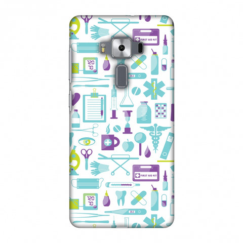 Doctor Pattern 1 Slim Hard Shell Case For Asus Zenfone 3 Deluxe ZS570KL