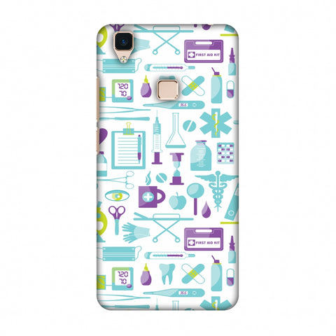 Doctor Pattern 1 Slim Hard Shell Case For Vivo V3
