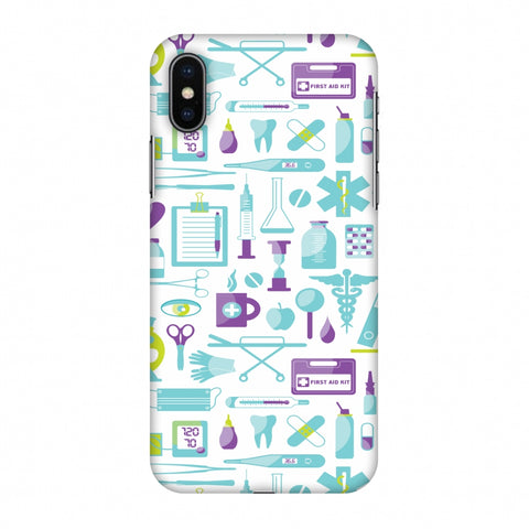 Doctor Pattern 1 Slim Hard Shell Case For Apple iPhone X
