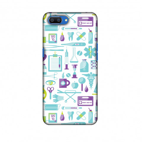 Doctor Pattern 1 Slim Hard Shell Case For Oppo Realme C1