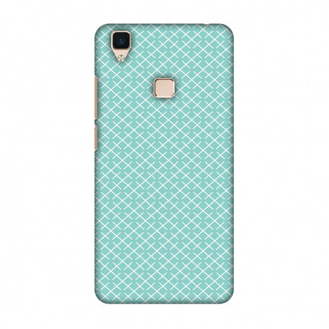 CheckeRed In Pastel Slim Hard Shell Case For Vivo V3