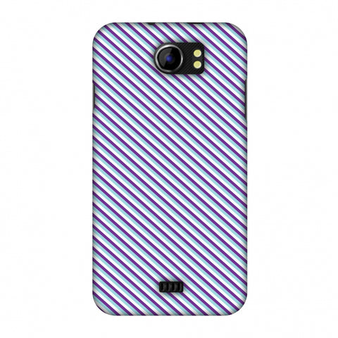 CheckeRed In Purple Slim Hard Shell Case For Micromax Canvas 2 A110