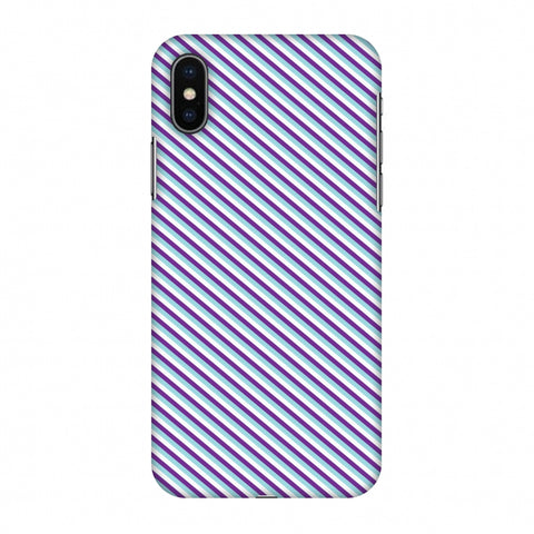CheckeRed In Purple Slim Hard Shell Case For Apple iPhone X