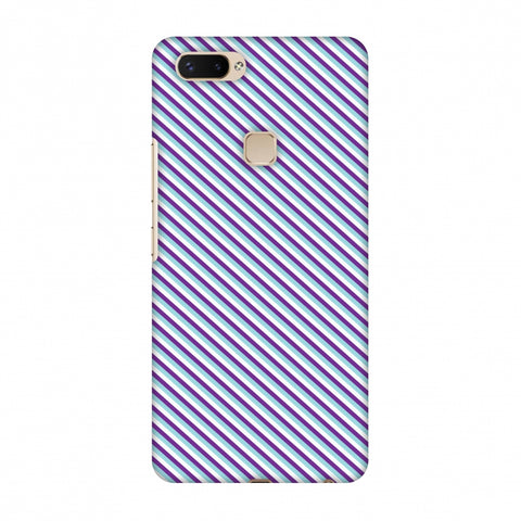 CheckeRed In Purple Slim Hard Shell Case For Vivo X20 Plus