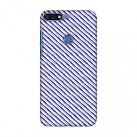 CheckeRed In Purple Slim Hard Shell Case For Huawei Honor 7C