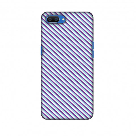CheckeRed In Purple Slim Hard Shell Case For Oppo Realme C1