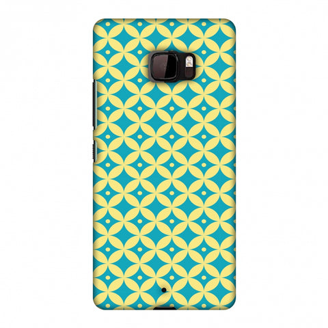 Overlapped Circles 2 Slim Hard Shell Case For HTC U Ultra