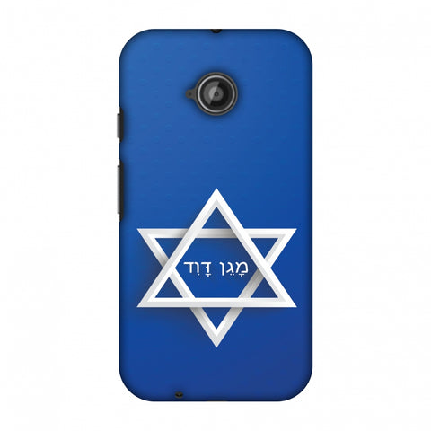 Star Of David Slim Hard Shell Case For Motorola Moto E 2nd Gen