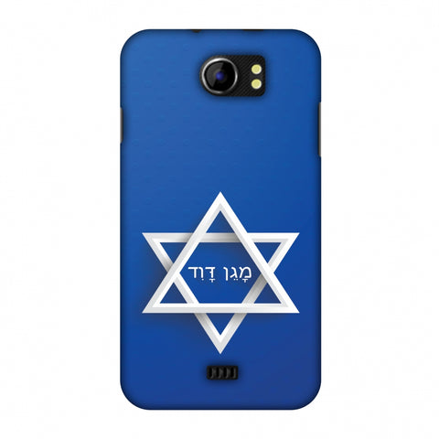 Star Of David Slim Hard Shell Case For Micromax Canvas 2 A110