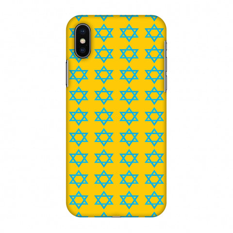 Hanukkah Pattern 1 Slim Hard Shell Case For Apple iPhone X