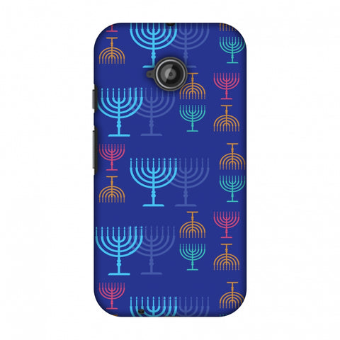 Hanukkah Pattern 2 Slim Hard Shell Case For Motorola Moto E 2nd Gen