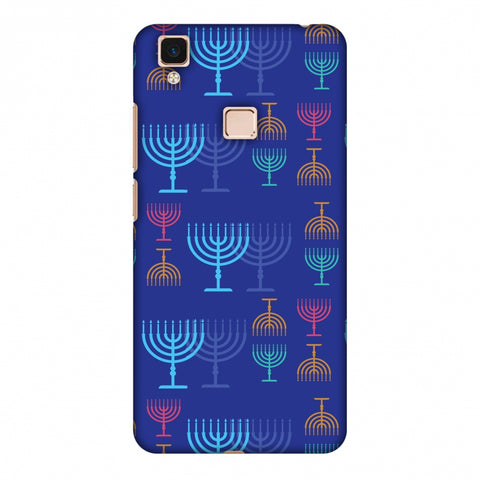 Hanukkah Pattern 2 Slim Hard Shell Case For Vivo V3 Max