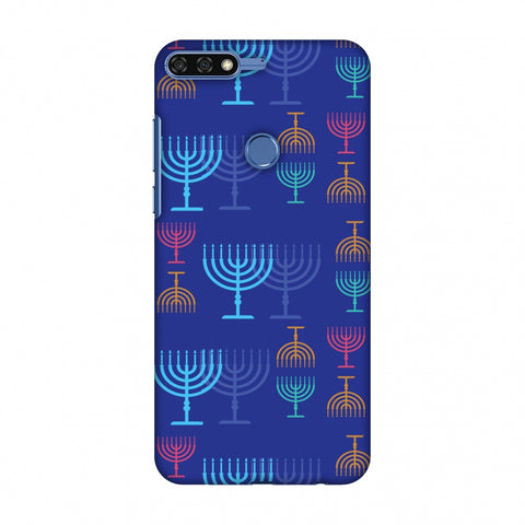 Hanukkah Pattern 2 Slim Hard Shell Case For Huawei Honor 7C