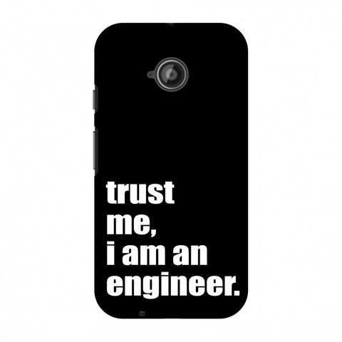Proud To Be A Engineer 1 Slim Hard Shell Case For Motorola Moto E 2nd Gen