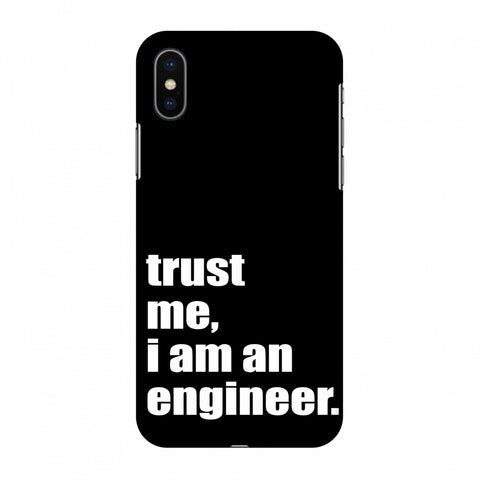 Proud To Be A Engineer 1 Slim Hard Shell Case For Apple iPhone X