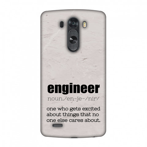 Proud To Be A Engineer 2 Slim Hard Shell Case For LG G4