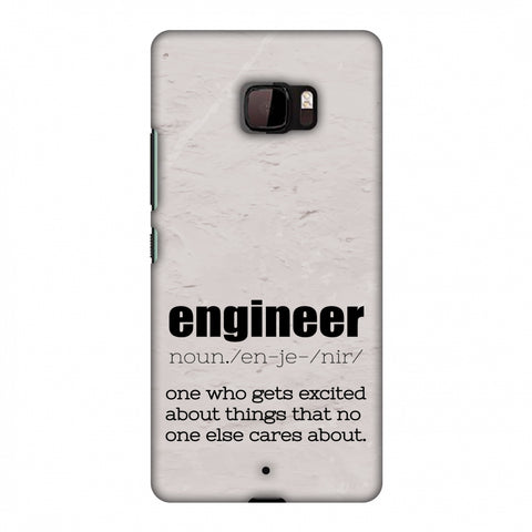 Proud To Be A Engineer 2 Slim Hard Shell Case For HTC U Ultra