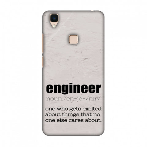 Proud To Be A Engineer 2 Slim Hard Shell Case For Vivo V3