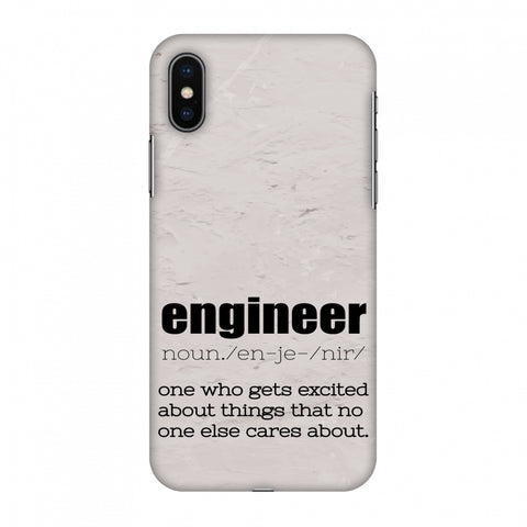 Proud To Be A Engineer 2 Slim Hard Shell Case For Apple iPhone X