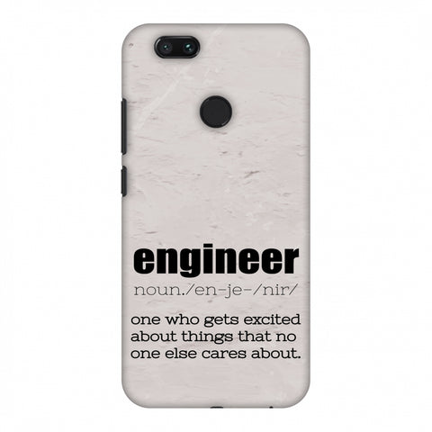 Proud To Be A Engineer 2 Slim Hard Shell Case For Xiaomi MI A1-5X