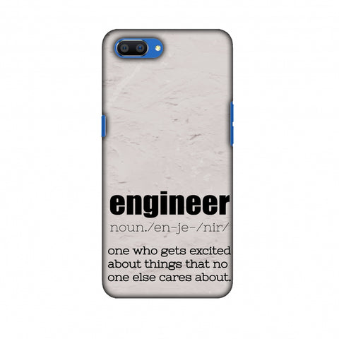 Proud To Be A Engineer 2 Slim Hard Shell Case For Oppo Realme C1
