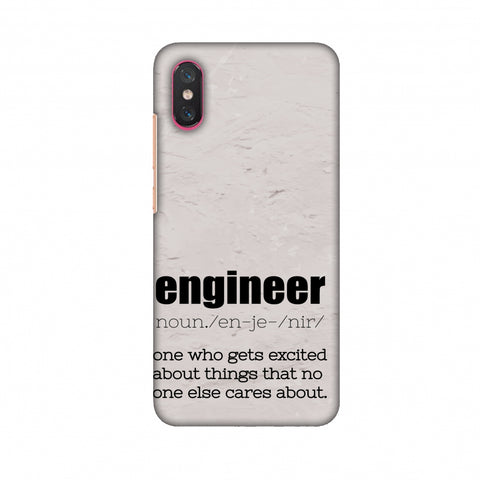 Proud To Be A Engineer 2 Slim Hard Shell Case For Xiaomi Mi 8 Pro