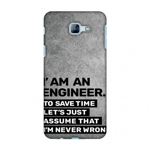 Proud To Be A Engineer 3 Slim Hard Shell Case For Samsung Galaxy A8 2016
