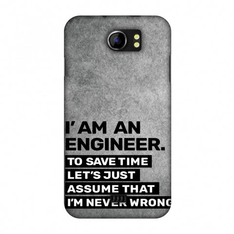 Proud To Be A Engineer 3 Slim Hard Shell Case For Micromax Canvas 2 A110