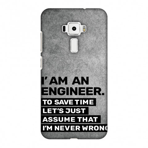Proud To Be A Engineer 3 Slim Hard Shell Case For Asus Zenfone 3 ZE520KL