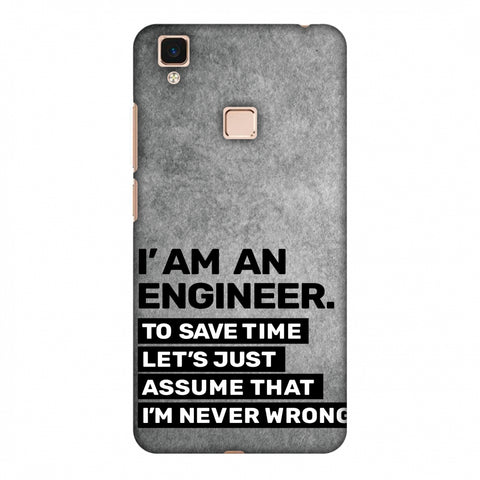 Proud To Be A Engineer 3 Slim Hard Shell Case For Vivo V3 Max