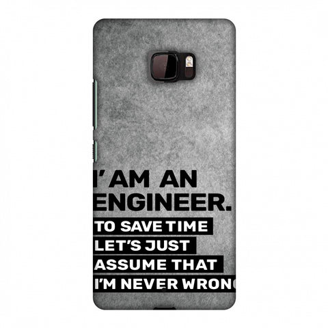 Proud To Be A Engineer 3 Slim Hard Shell Case For HTC U Ultra
